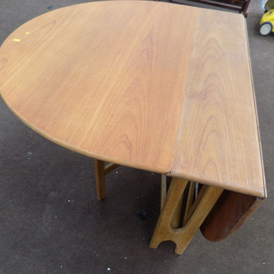 G plan style drop leaf dining table