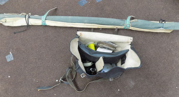 Fishing rod & bag of contents