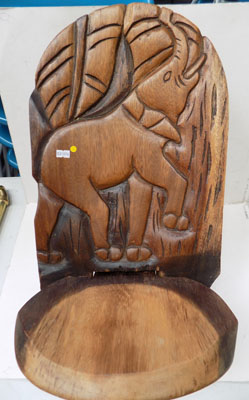Childs elephant carved chair