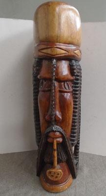 Large carved African figure head