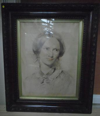 Framed picture of Charlotte Bronte