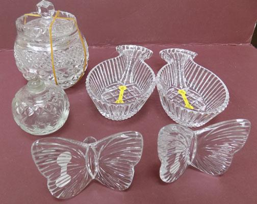 Collection of quality crystal items inc Bon Bon dish