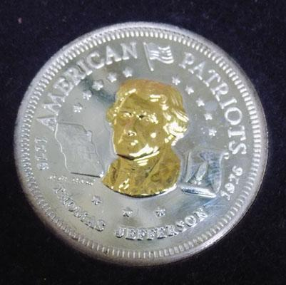 1976 American patriots silver & gold crown