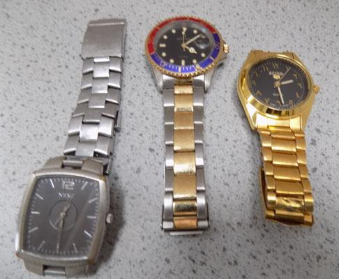 3x Gents watches