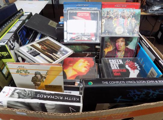 Collectable box of CD's & music books