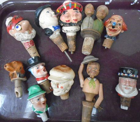 Selection of vintage bottle stoppers