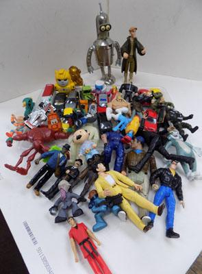 Tray of collectable toys