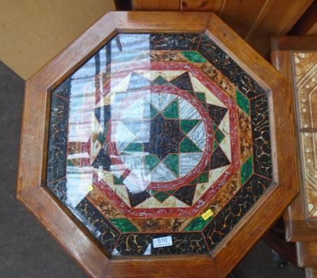 Decorative glass top table
