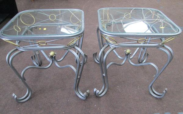 2 Glass top coffee table