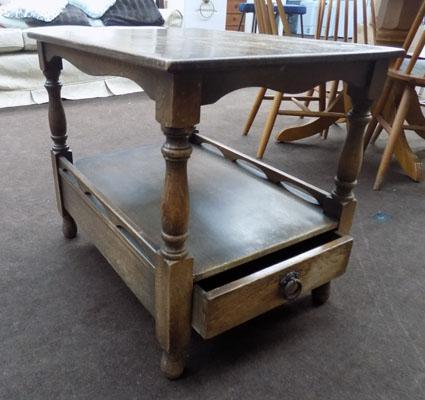 Occasional table with bottom drawer
