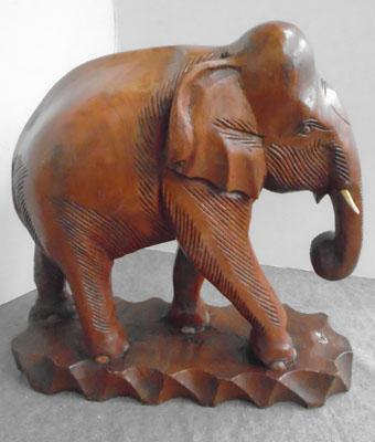 Large wooden carved elephant