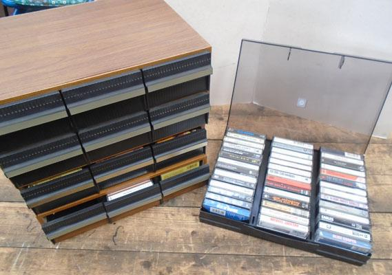 Original cassette collection 100 plus with storage