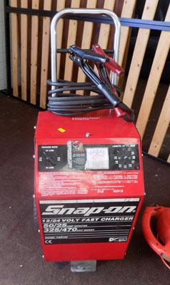 Snap on battery booster & charger