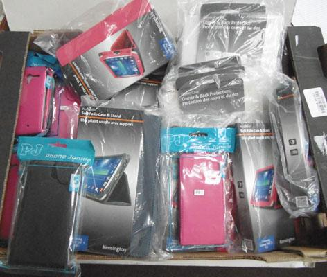 Mixed bag of Samsung tablet cases, Ipad air & phone cases