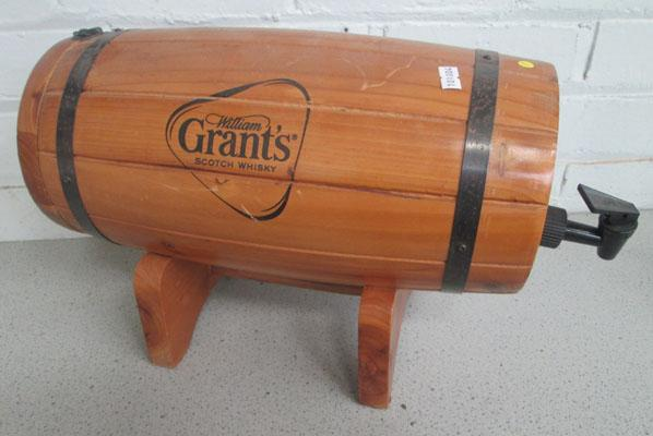 Grants whisky barrel on stand
