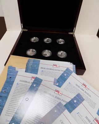 Boxed mint Royal Navy silver crown collection