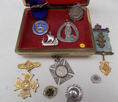 Collection of antique silver & gilt medals