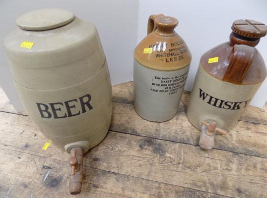 Stoneware alcoholic containers