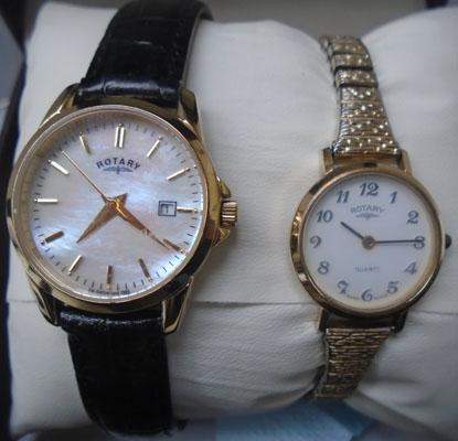 2x Rotary watches, 1 Mother of Pearl face