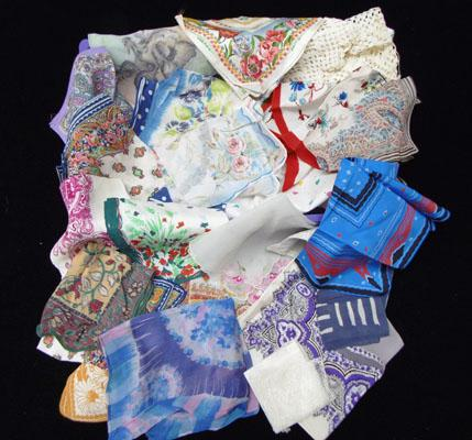 Collection of vintage hankies