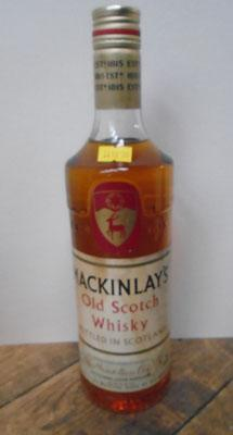 70% proof Mackinlays whisky bottled in 70's