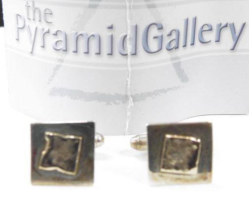 Pair of designer 9ct gold & silver cuff links by Ruth Praiu