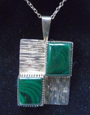 Large silver & marcasite pendant on silver chain