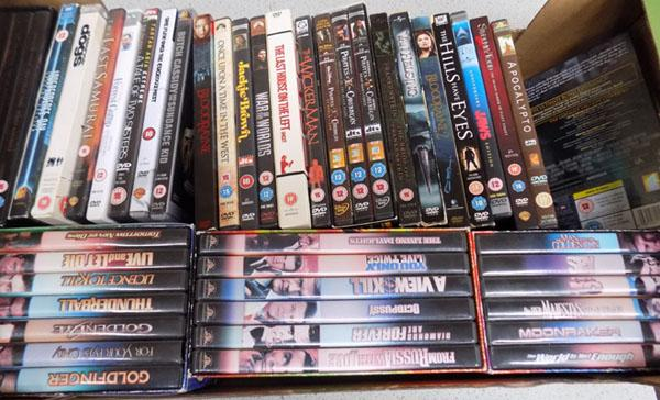 Box assorted DVD's