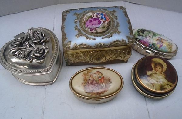 Collection of ornate trinket boxes