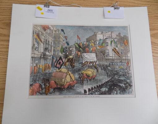 Print of opening of Bradford Town hall 1873