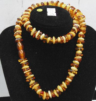2 Tone/coloured amber necklace
