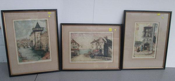 3x Pictures Ltd Ed signed etching by Margaret Aulton