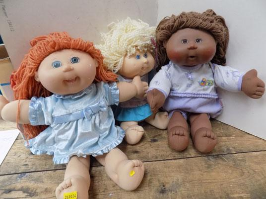 3 Early 1990s Cabbage Patch Dolls