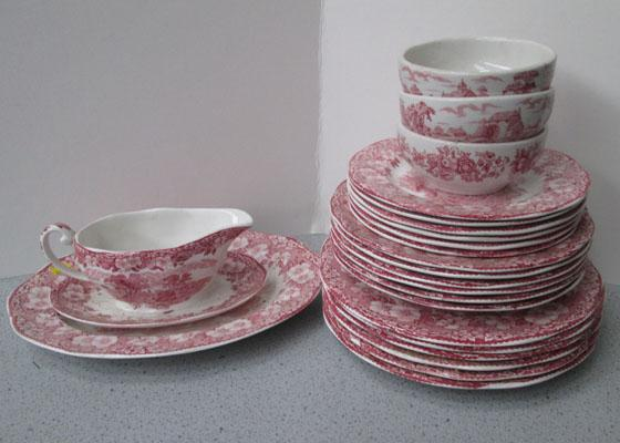 Wedgwood part dinner service-woodland pattern