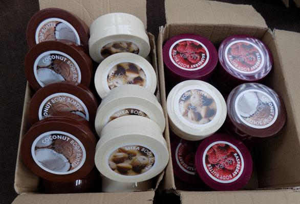 2x Boxes body butter