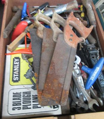 Tray of assorted tools