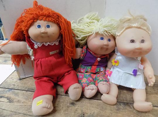 3 Early Cabbage Patch Dolls from 1978-1980