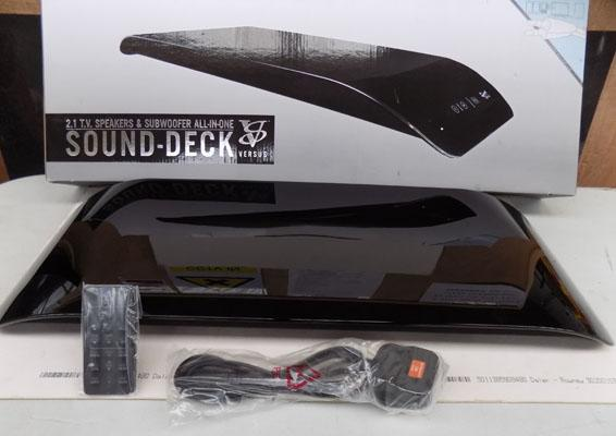 Sound deck TV speakers & subwoofer all-in-one w/o