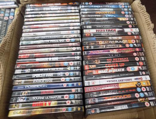 Box of mixed DVD's