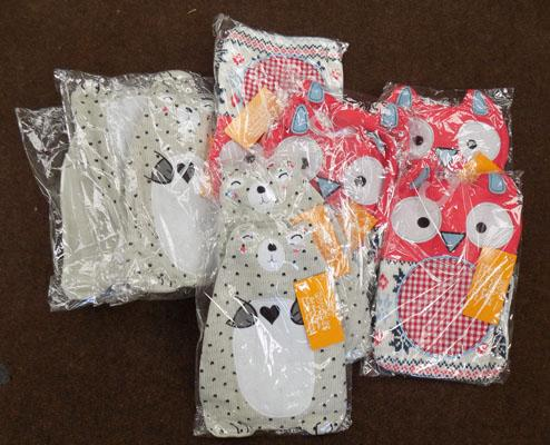 Large amount of new hot water bottles