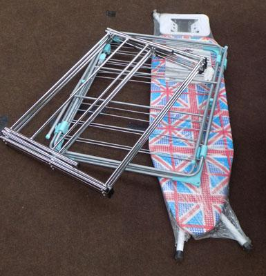 New ironing board & 2 clothes airers
