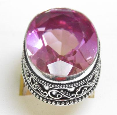 Silver bi - colour Torrmaline ring