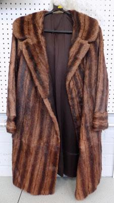 Full length fox fur coat