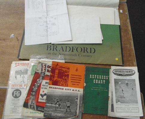 Vintage Bradford maps and other ephemera