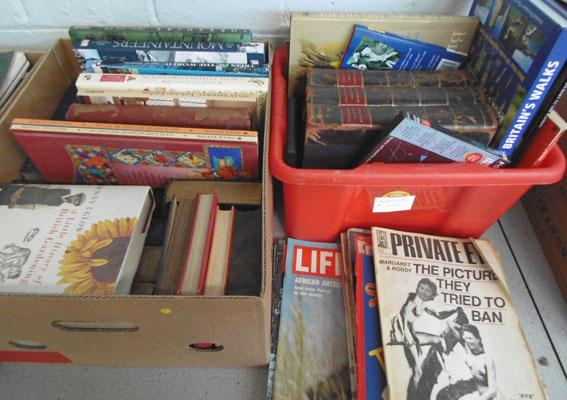 2 boxes books - some vintage and vintage Picture Post