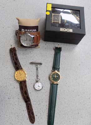 Collection of watches including nurses fob
