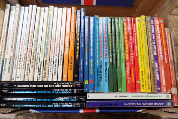 43x Dr Who target/pinnacle (USA) books, Terry Dicks/Barry Letts