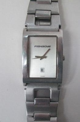 Mans fishbone watch