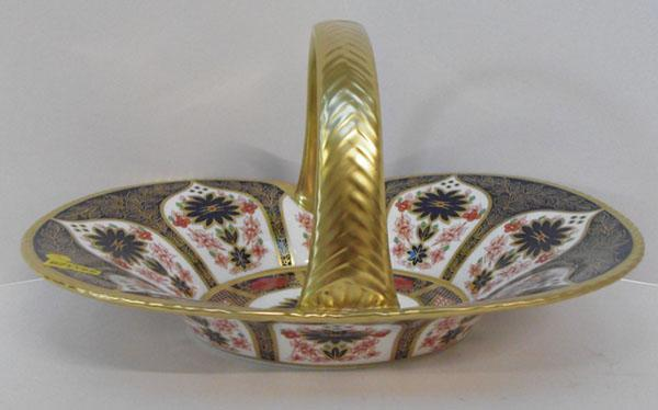 Royal Crown Derby old Imari heather basket