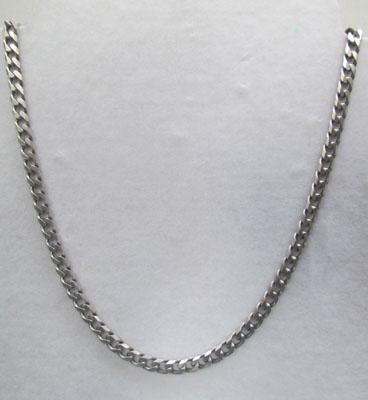 Heavy silver curb link necklace-approx 20 inches